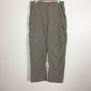 Columbia Khaki 100% Nylon Convertible Hiking Pants